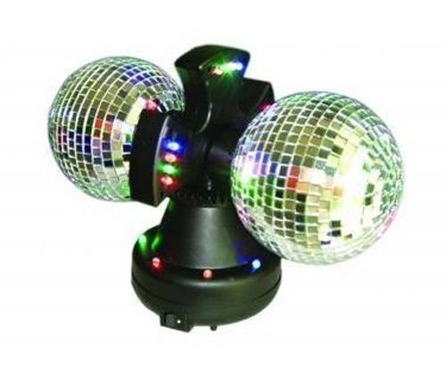 Twin Mirror Rotating Disco Ball for DJ Party LED Light Lamp 4.5