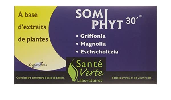 Amazon.com: Sante Verte Somni Phyt 30 - 30 Tablets: Health & Personal Care