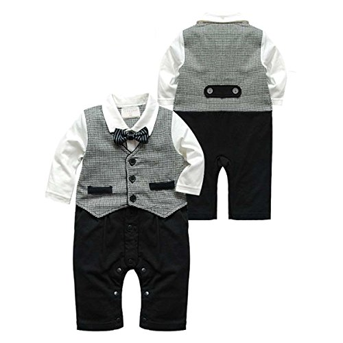 Newborn Gentleman Jumpsuit Outfits Clothes product image