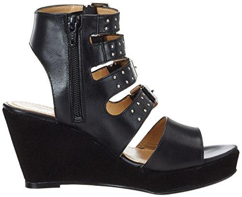 GARDENIA COPENHAGEN Women's Wedge Gladiator Sandals Black (Napa Dark Tan) wQhdV9zM1