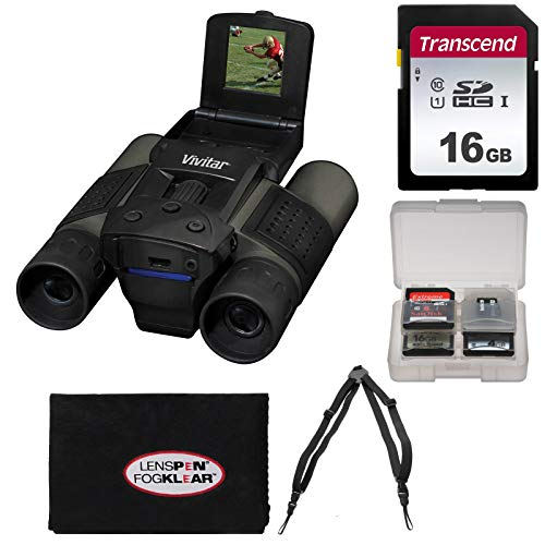Vivitar 12x25 Binoculars with Built-in Digital Camera with 16GB Card + Harness + Accessory Kit by Vivitar