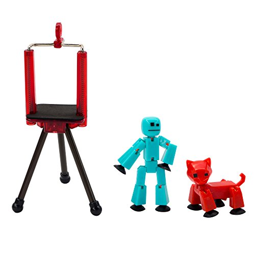 Toy Shed Stikbot Studio Series 2 ( 1 Stikbot + 1 Animal + 1 Tripod), Multicolor