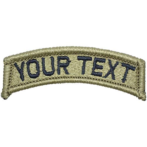 Embroidered Custom Tab - Customizable Text Morale Patch Fully Embroidered OCP - Tab