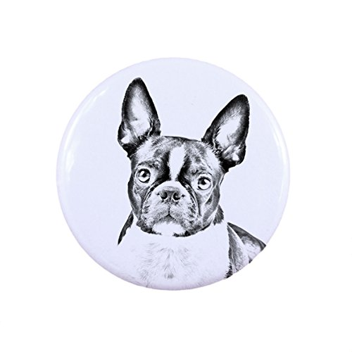 Boston Terrier, a button, badge with a dog (Terrier Button)