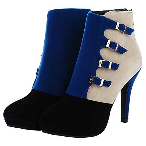 Boot Blue AIYOUMEI AIYOUMEI Women's Classic Women's 4a4nPIqT