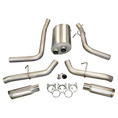 (CORSA 24391 Dual Side Exit Cat-Back Exhaust System with 4