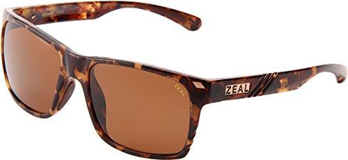 Zeal Optics Unisex Brewer Colorado Tortoise W/Cooper Polarized Lens - Warranty Zeal Sunglasses