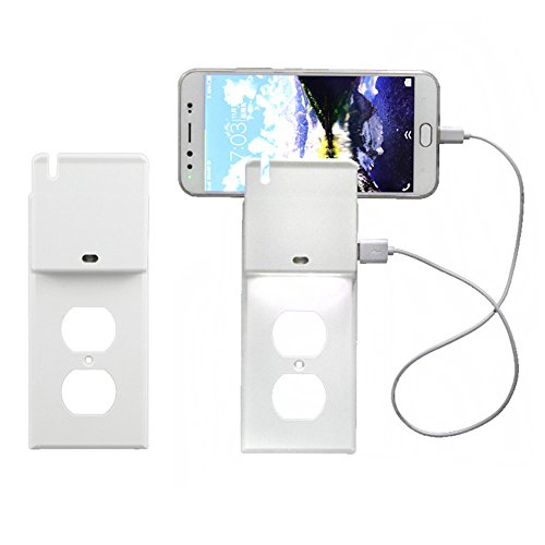 Price comparison product image Amiley Wall Switch,Outlet Cover With Phone Stand induction Plug LED Cover Wall Switch Plate Toggle USB (B)