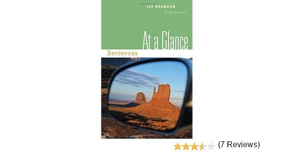 Amazon.com: At a Glance: Sentences (9780495906377): Lee Brandon: Books