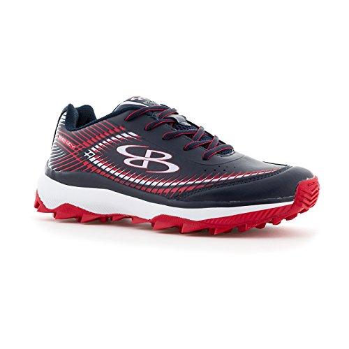 Boombah Womens Frenzy Turf Shoes - 11 Kleurenopties - Meerdere Maten Marine / Rood