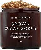 Brown Sugar Body Scrub - Exfoliating Face Scrub & Body Scrub for Cellulite, Stretch Marks, Acne, and Varicose Veins, 10 oz - Brooklyn Botany