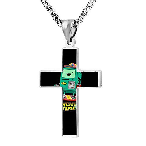 Kenlove87 Patriotic Cross Hover Time Religious Lord'S Zinc Jewelry Pendant Necklace