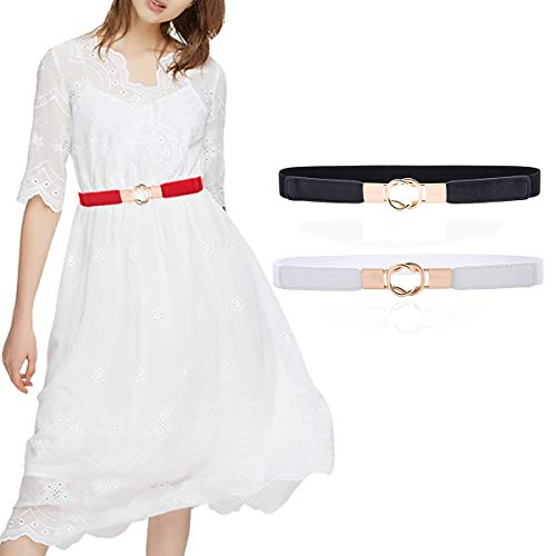 Skinny Belt for Dresses Retro Stretch Ladies Waist Belt Set PS1_ZH1_HB