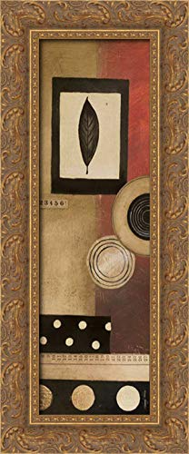 (Radius Panel I 11x24 Gold Ornate Wood Framed Canvas Art by Poloson, Kimberly)