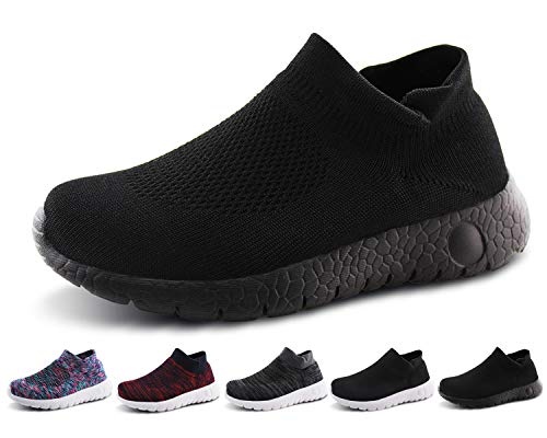 8c8cabc4711e7 Jabasic Kids Walking Shoes Boys Girls Breathable Slip On Knit Sock ...