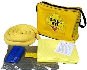 SERPRO spill management Kit de derrames químicos/universales de 50 litros en una Bolsa de Hombro