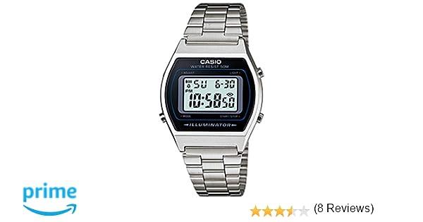 Casio B640WD1A - Reloj Unisex metálico Negro/Plata: Casio: Amazon.es: Relojes