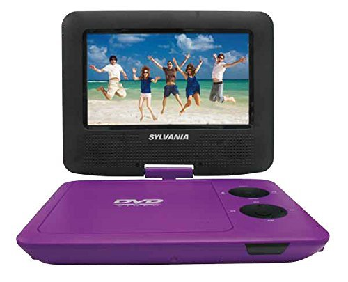 Sylvania SDVD7043-PURPBLK 7-Inch Portable DVD Player with Matching Oversize Headphones (Purple) (Certified Refurbished)