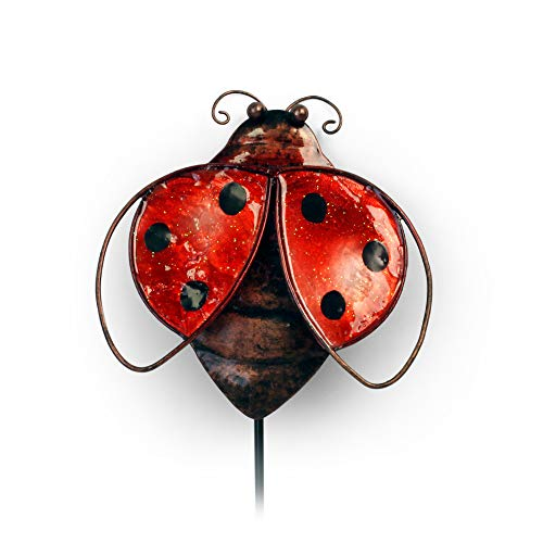 - OBI Metal Ladybug Garden Stake or Wall Sign - Small Yard Pick for Patio Outdoor Yard Decorations