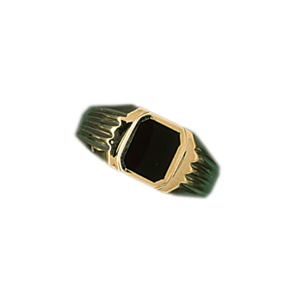 14kt Yellow Gold Onyx Mens Ring Jewelry