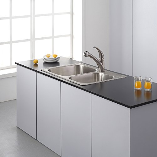 Kraus KTM32 33 inch Topmount 60/40 Double Bowl 18 gauge Stainless Steel Kitchen Sink by Kraus (Image #12)