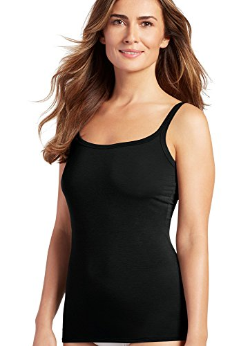 (Jockey Women's Elance Supersoft Cami, Black, LG)
