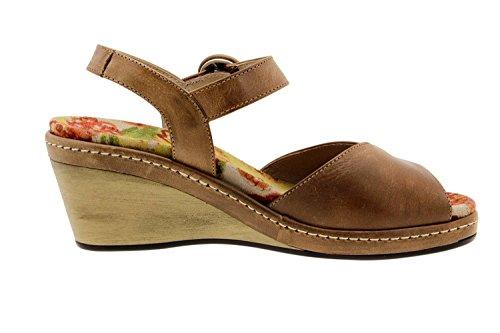 Komfort Damenlederschuh Piesant 6953 sandale freizeitschuh bequem breit Cuero