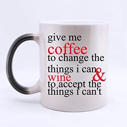 new year office gifts saying give me coffee to change the things i canwine