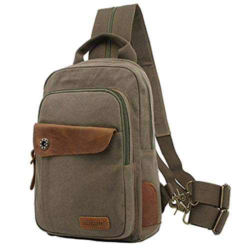 - CLELO Mini Backpack Purse,Canvas Sling Rucksack Small Backpack(Army Green)