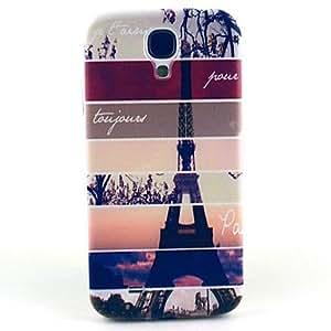 SHOUJIKE Striped Eiffel Tower Pattern Hard Case Cover for Samsung Galaxy S4 I9500