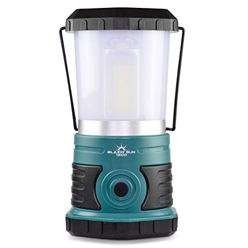 Blazin' Sun 1500 Lumen | Led Lanterns Battery Operated | Hurricane, Emergency, Storm, Power Outage Light | 200 Hour Runtime (Teal) -