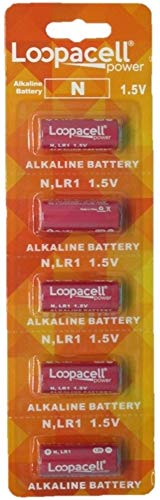 Loopacell E90 N LR1 Alkaline 1.5V 5 Batteries