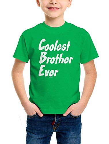 - Coolest Brother Ever Youth T-Shirt (Kelly Green, X-Small)
