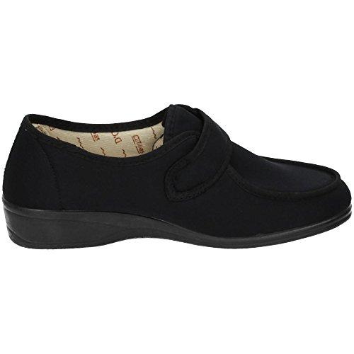 Extra breite Cutillas Doctor Cutillas Sneaker Textil Schwarz