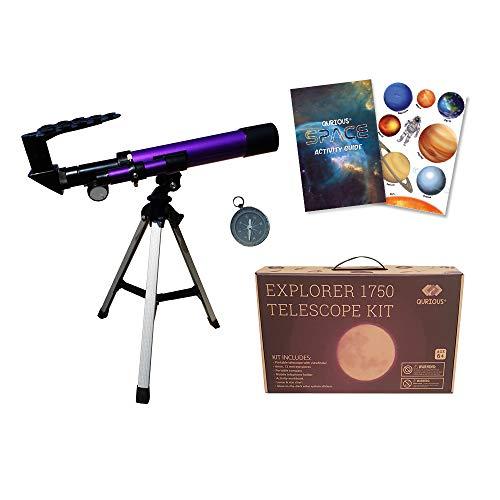 🥇 Qurious Space Kit de telescopio explorador para niños