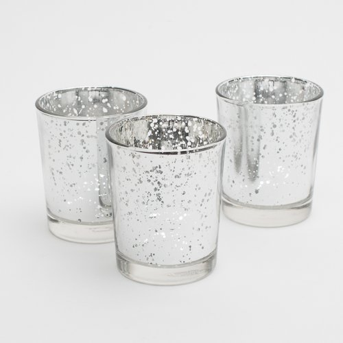 Richland Silver Mercury Votive Candle Holders Set of 12