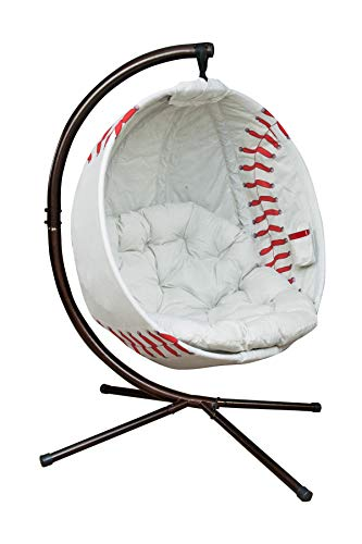 Flowerhouse Baseball Hanging Lounge Chair with Stand FHBB100 (Mitt Chair)