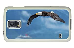 Hipster Samsung Galaxy S5 Cases Cheap price flying bald eagle PC White for Samsung S5