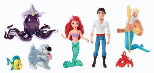 little mermaid figure set - 9