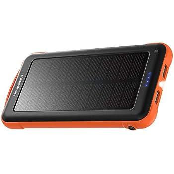 Amazon.com: Solar Phone Charger 10.000mAh Power Bank ...