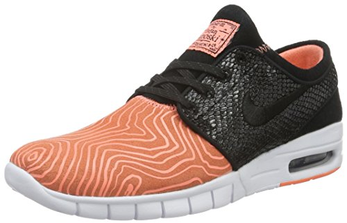 huge discount 4d774 bdbb6 Galleon - Nike Men s Stefan Janoski Max L, FISH LADDER-ATOMIC PINK BLACK-ARCTIC  ORANGE-WHITE, 13 M US