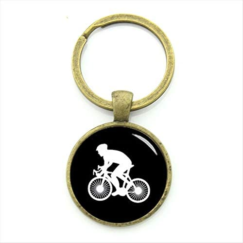 CLEARNICE Llavero Casual Sports Cyclist Llavero Minimalista ...