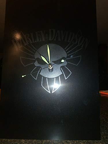 Harley Davidson Airbrushed Clock 18