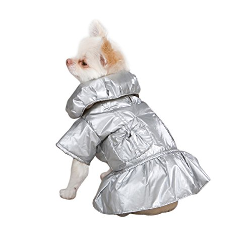 Zack & Zoey Polyester Razzle Dazzle Puffy Dog Coat, Teacup, - Zoey Teacup