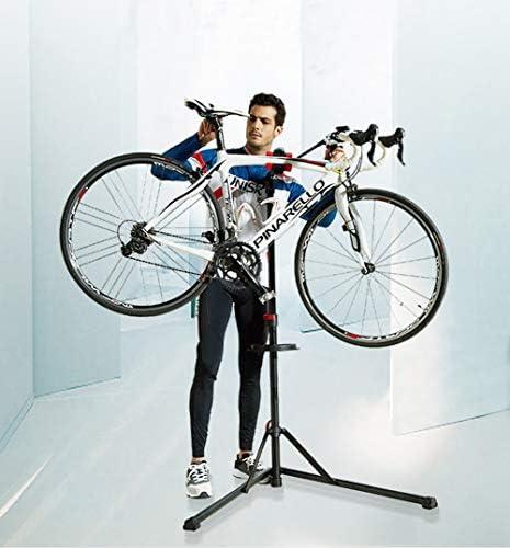 折りたたみ式自転車修理スタンド、自転車修理ラックワークスタンド、360°回転フリーリフト、高さ調整可能