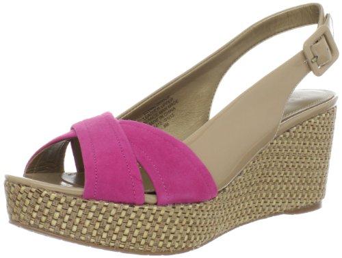 Circa Joan & David Women's Walbridge Patent Wedge Sandal Nude/ Dark Pink 3umUEE4sL6