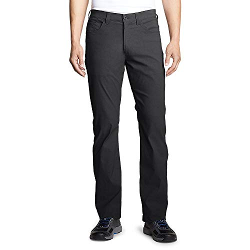 Eddie Bauer Men's Horizon Guide Five-Pocket Jeans - Straight Fit, Carbon Regular (Eddie Bauer Pants)