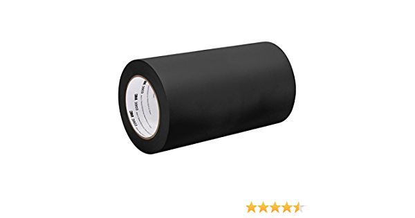 50 yd 32 Width 32 Width 3M Black Vinyl//Rubber Adhesive Duct Tape 3903 Length 32-50-3903-BLACK 12.6 psi Tensile Strength