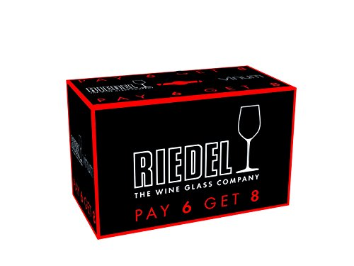 Riedel VINUM Bordeaux/Merlot/Cabernet Wine Glasses, Pay for 6 get 8 –