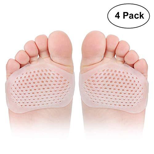 Metatarsal Pads, Loisuzn  Ball of Foot Cushions Forefoot Metatarsal Pads Gel Pad Sleeve for Men and Women Feet Pain Relief - 2 Pairs